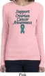 Support Ovarian Cancer Awareness Ladies Long Sleeve