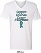 Support Ovarian Cancer Awareness V-neck Shirt