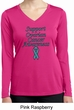 Support Ovarian Cancer Ladies Dry Wicking Long Sleeve