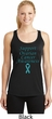 Support Ovarian Cancer Ladies Dry Wicking Racerback