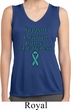 Support Ovarian Cancer Ladies Dry Wicking Sleeveless Shirt