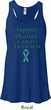 Support Ovarian Cancer Ladies Flowy Racerback
