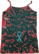 Support Ovarian Cancer Ladies Tie Dye Camisole Tank Top
