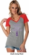 Support Pancreatic Cancer Awareness Ladies Contrast V-neck
