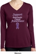 Support Pancreatic Cancer Awareness Ladies Dry Wicking Long Sleeve