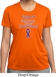 Support Pancreatic Cancer Awareness Ladies Dry Wicking T-shirt