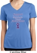 Support Pancreatic Cancer Awareness Ladies Dry Wicking V-neck