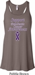 Support Pancreatic Cancer Awareness Ladies Flowy Racerback