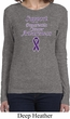 Support Pancreatic Cancer Awareness Ladies Long Sleeve