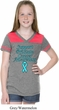 Support Prostate Cancer Awareness Girls Football Tee