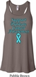 Support Prostate Cancer Ladies Flowy Racerback