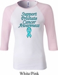 Support Prostate Cancer Ladies Raglan Shirt