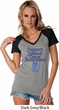 Support Stomach Cancer Awareness Ladies Contrast V-neck