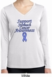 Support Stomach Cancer Awareness Ladies Dry Wicking Long Sleeve