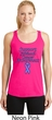 Support Stomach Cancer Awareness Ladies Dry Wicking Racerback