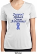 Support Stomach Cancer Awareness Ladies Dry Wicking V-neck
