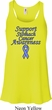 Support Stomach Cancer Awareness Ladies Flowy Racerback