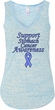 Support Stomach Cancer Awareness Ladies Flowy V-neck Tank Top