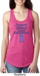 Support Stomach Cancer Awareness Ladies Ideal Racerback