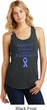 Support Stomach Cancer Awareness Ladies Racerback