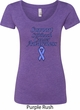 Support Stomach Cancer Awareness Ladies Scoop Neck
