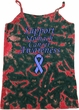 Support Stomach Cancer Awareness Ladies Tie Dye Camisole Tank Top