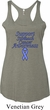 Support Stomach Cancer Awareness Ladies Tri Blend Racerback