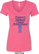 Support Stomach Cancer Awareness Ladies V-Neck