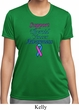 Support Thyroid Cancer Awareness Ladies Dry Wicking T-shirt