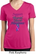 Support Thyroid Cancer Awareness Ladies Dry Wicking V-neck