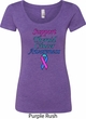 Support Thyroid Cancer Awareness Ladies Scoop Neck