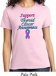 Support Thyroid Cancer Awareness Ladies T-shirt