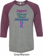 Support Thyroid Cancer Awareness Raglan Shirt