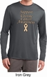 Support Uterine Cancer Awareness Dry Wicking Long Sleeve