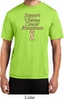 Support Uterine Cancer Awareness Dry Wicking T-shirt