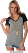 Support Uterine Cancer Awareness Ladies Contrast V-neck