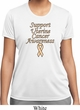 Support Uterine Cancer Awareness Ladies Dry Wicking T-shirt