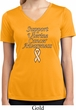 Support Uterine Cancer Awareness Ladies Dry Wicking V-neck