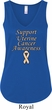 Support Uterine Cancer Awareness Ladies Flowy V-neck Tank Top