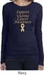 Support Uterine Cancer Awareness Ladies Long Sleeve