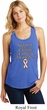 Support Uterine Cancer Awareness Ladies Racerback