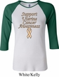 Support Uterine Cancer Awareness Ladies Raglan Shirt