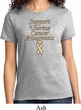 Support Uterine Cancer Awareness Ladies T-shirt