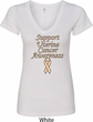Support Uterine Cancer Awareness Ladies V-Neck