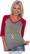 Support Uterine Cancer Awareness Ladies V-neck Raglan
