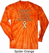 Support Uterine Cancer Awareness Long Sleeve Tie Dye