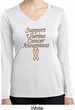 Support Uterine Cancer Ladies Dry Wicking Long Sleeve