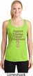 Support Uterine Cancer Ladies Dry Wicking Racerback