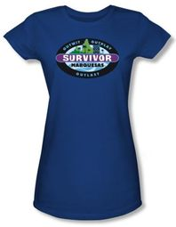 Survivor Juniors T-Shirt - Marquesas Royal Blue
