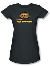Survivor Juniors T-Shirt - The Tribe Has Spoken Charcoal Tee